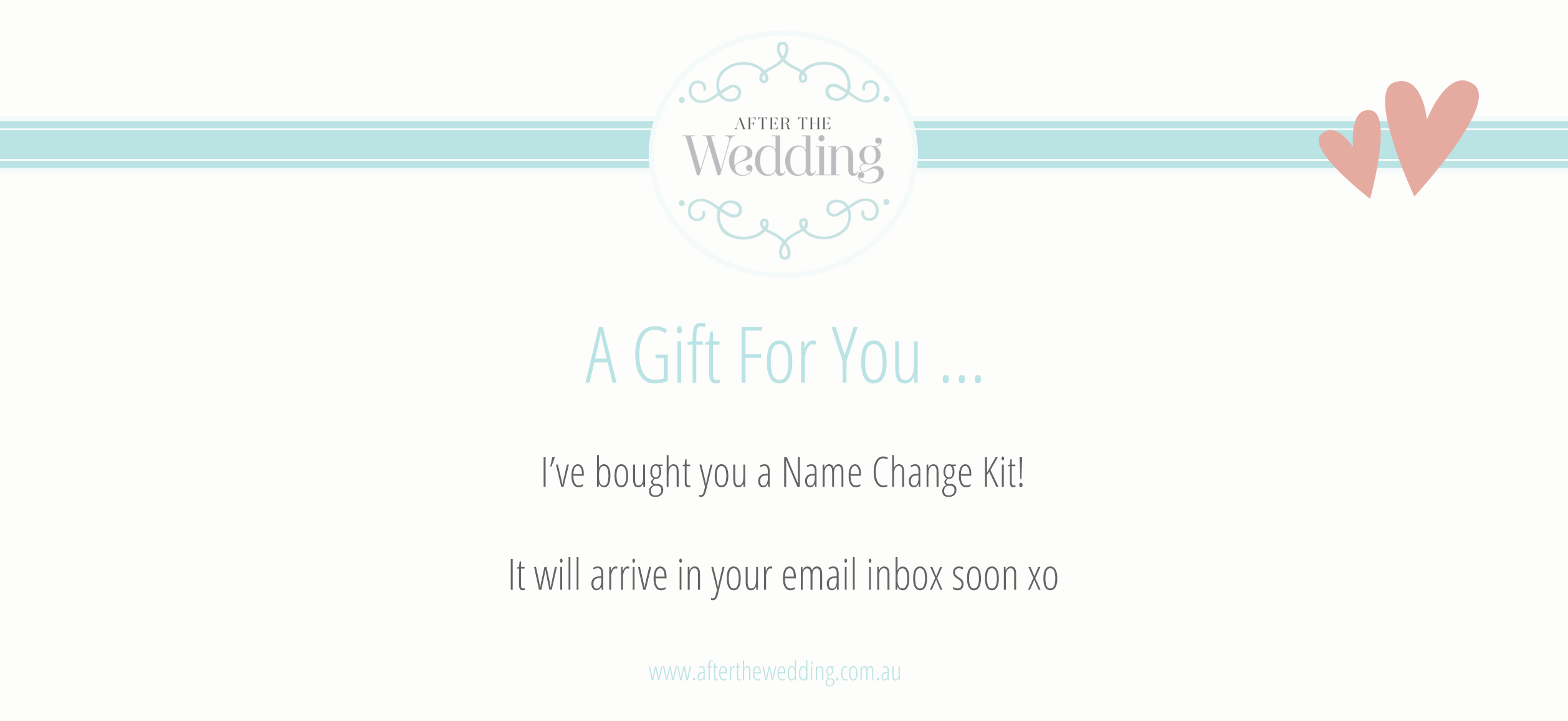 Honeymoon Vouchers As Wedding Gifts: Name Change Kit Gift Vouchers